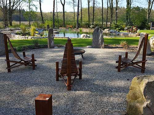 Druidenplätze gestaltet von Richard Voß Natursteinmauern