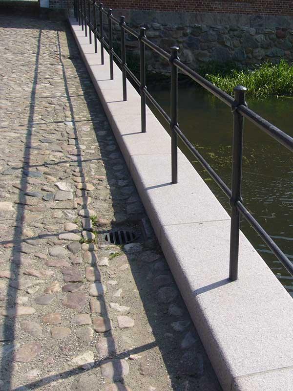Pflasterung einer Brücke